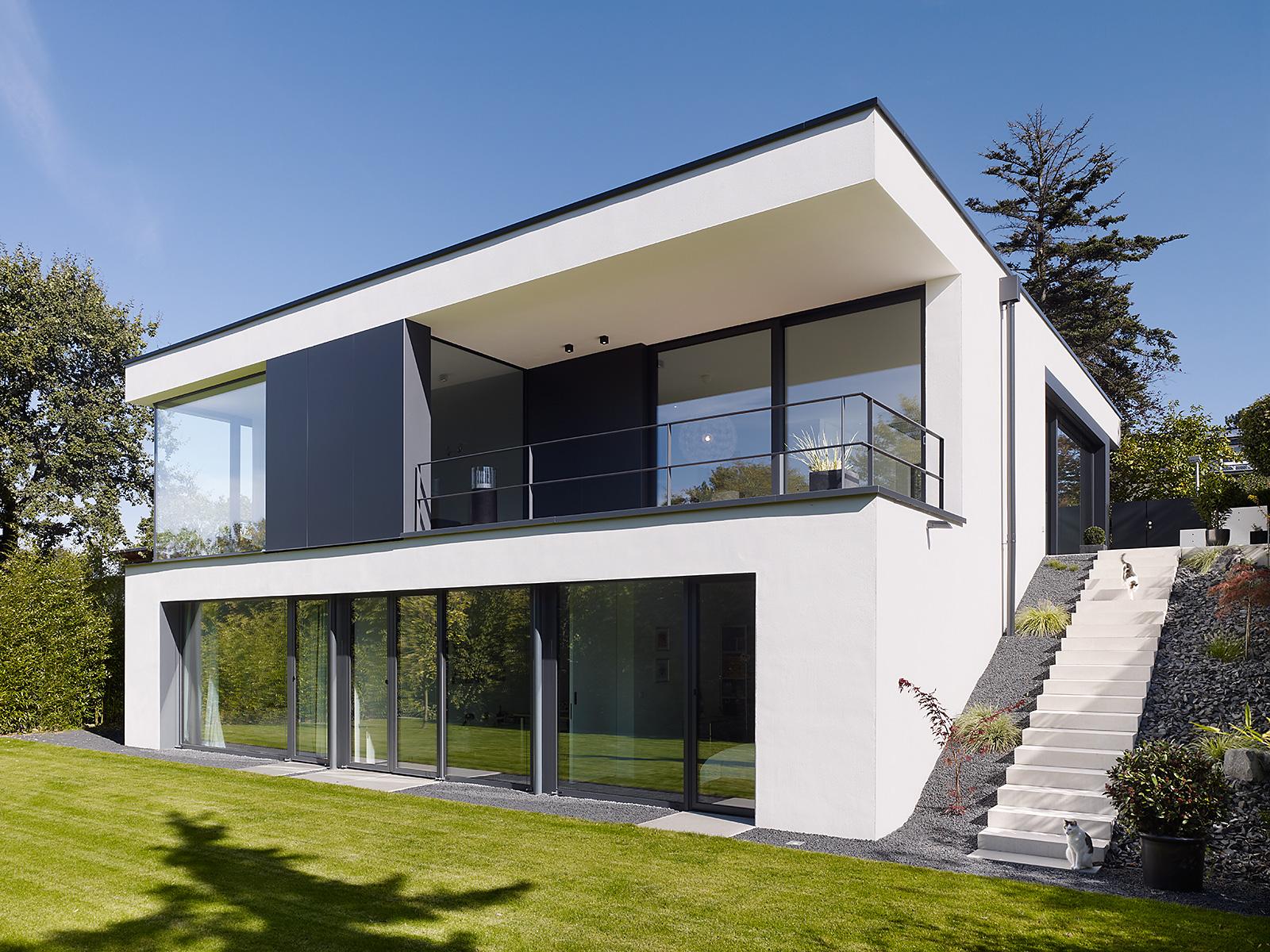 Den Design Einfamilienhaus Am Hang Nicole Zimmermann Fotodesign